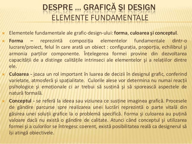 Grafica si design   Elemente Fundamentale Patrascu Frincu Mihaela Hanelore Slide 3