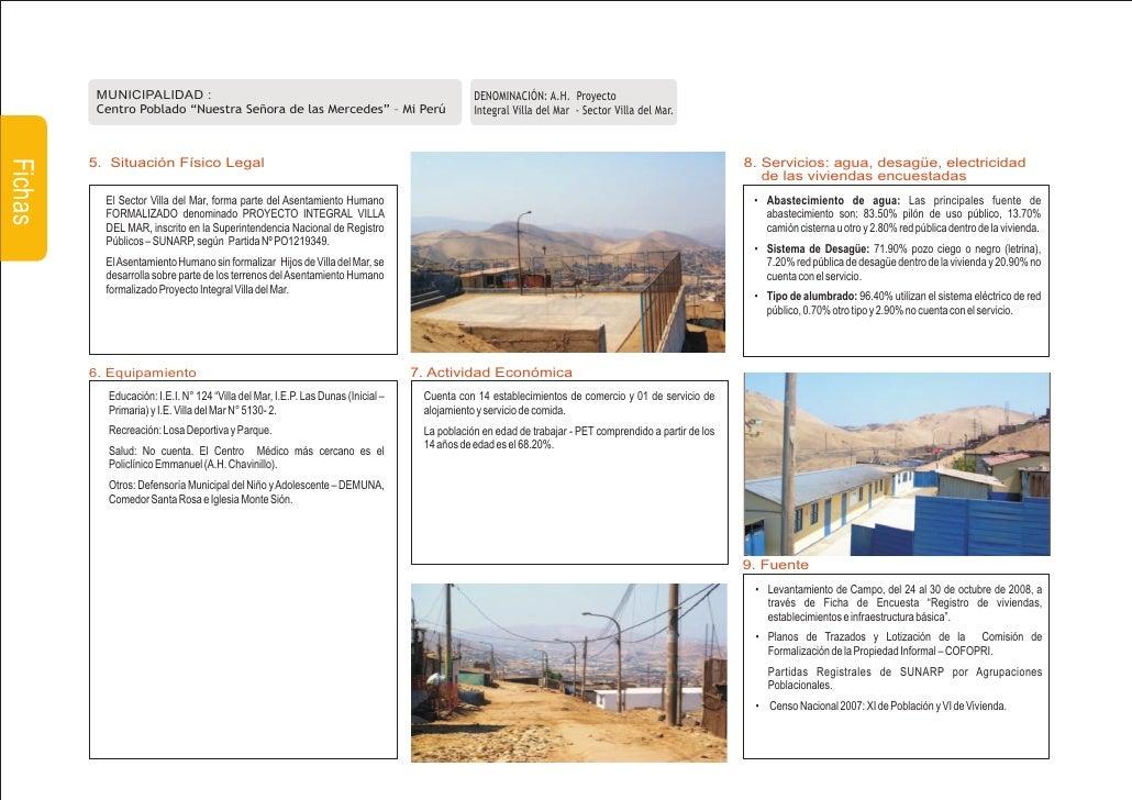 MUNICIPALIDAD :                                                                     DENOMINACIÓN: A.H. Proyecto           ...