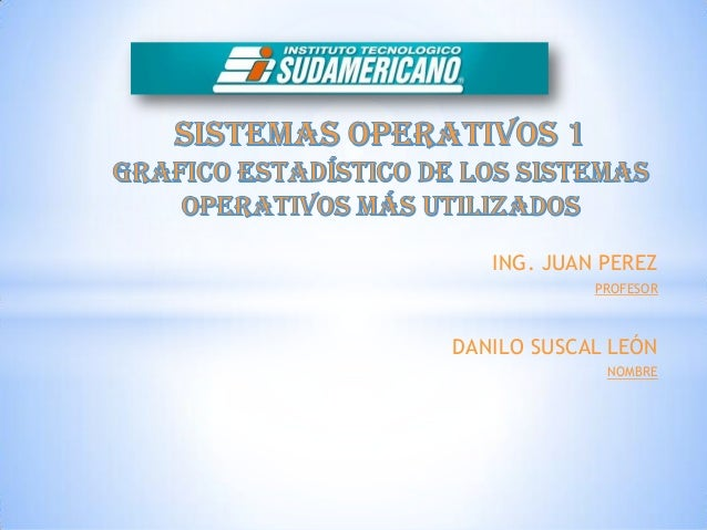 ING. JUAN PEREZ            PROFESORDANILO SUSCAL LEÓN             NOMBRE