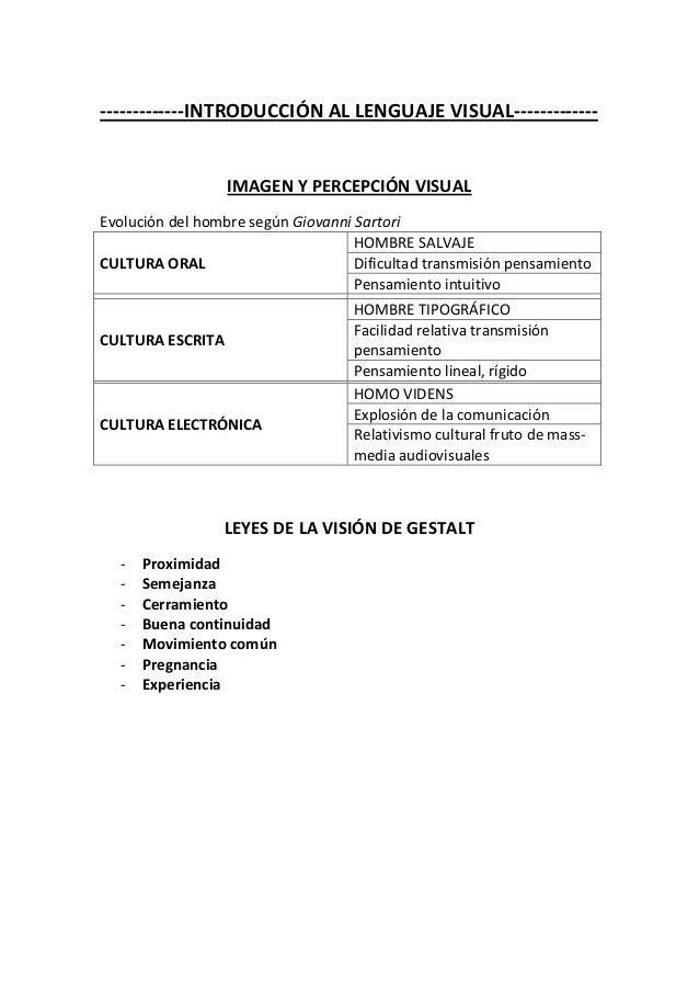 -------------INTRODUCCIÓN AL LENGUAJE VISUAL-------------                  IMAGEN Y PERCEPCIÓN VISUALEvolución del hombre ...