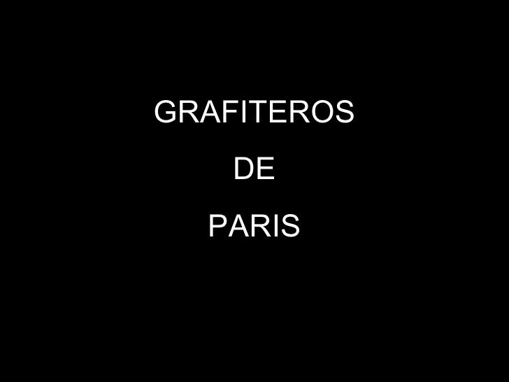 GRAFITEROS DE PARIS