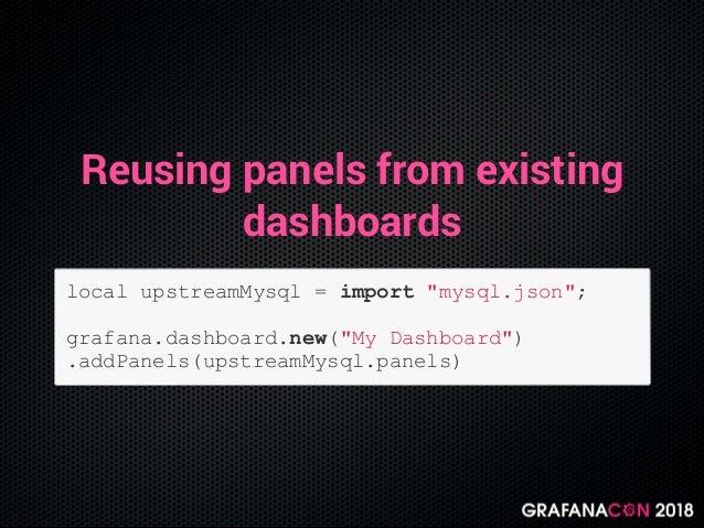 Grafonnet, grafana dashboards as code