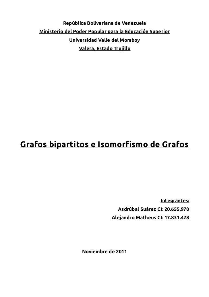 República Bolivariana de Venezuela    Ministerio del Poder Popular para la Educación Superior                Universidad V...