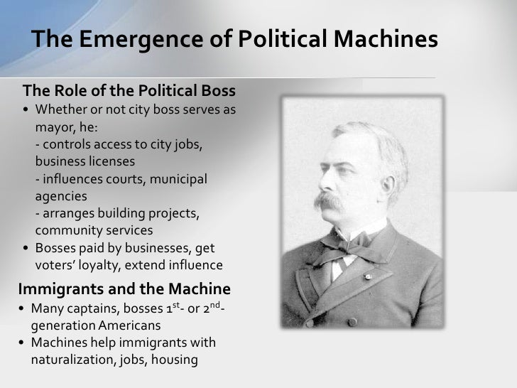 political machines Machines in the 1800's the process of industrialization began in the u s the creation of many new inventions and the economic structure of this era made this possible.