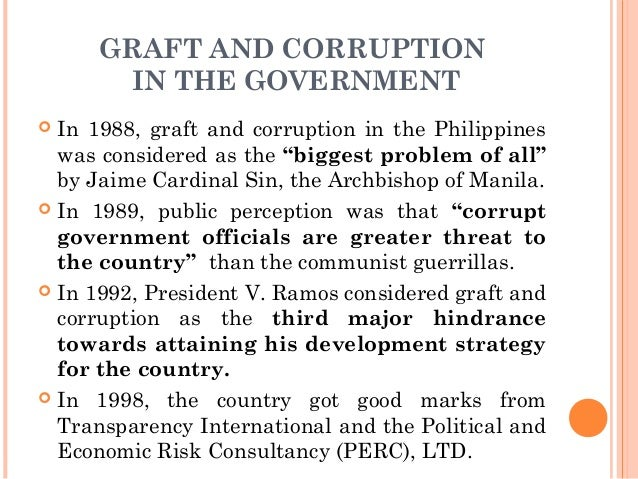 Essay on corruption in government