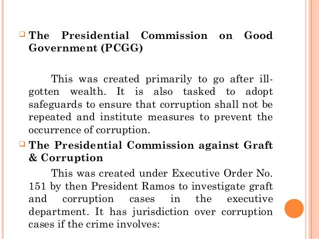 "graft and corruption Pursuant to presidential proclamation no 591 s 2004, may is observed as ""anti-graft and corruption awareness month"" the declaration is in line with the."
