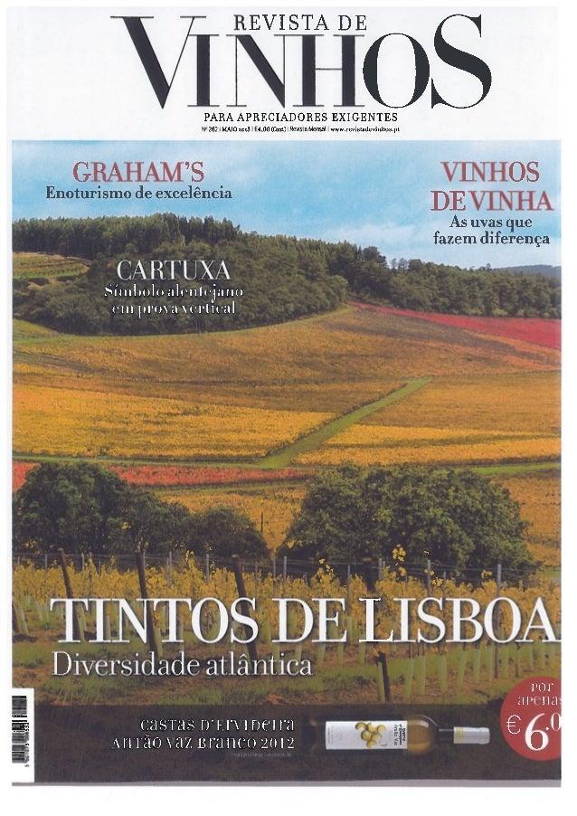 Revista de Vinhos Maio 2013: Artido das Caves 1890 Graham's e do VINUM - Restaurant & Wine Bar - Miguel Guedes de Sousa