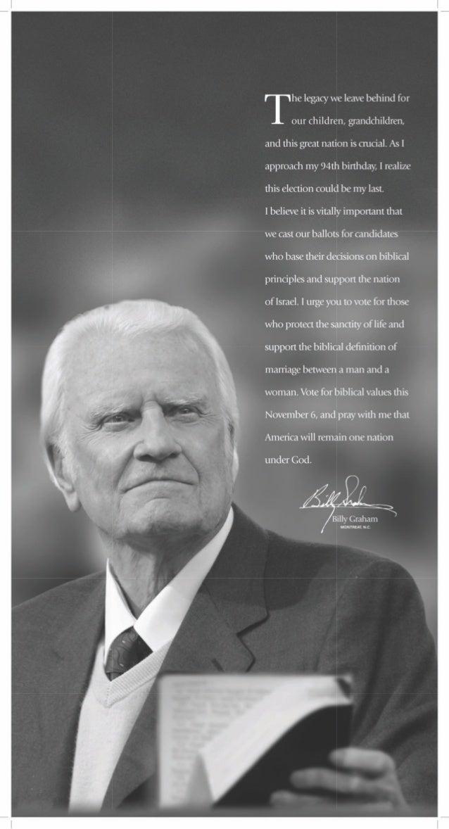 Billy Graham: vote for biblical values