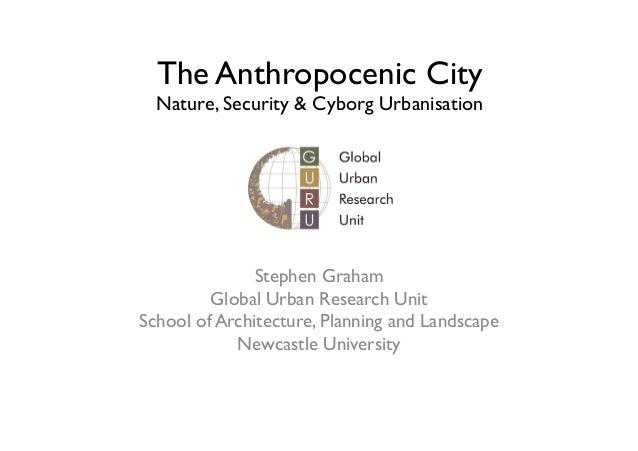 The Anthropocenic City