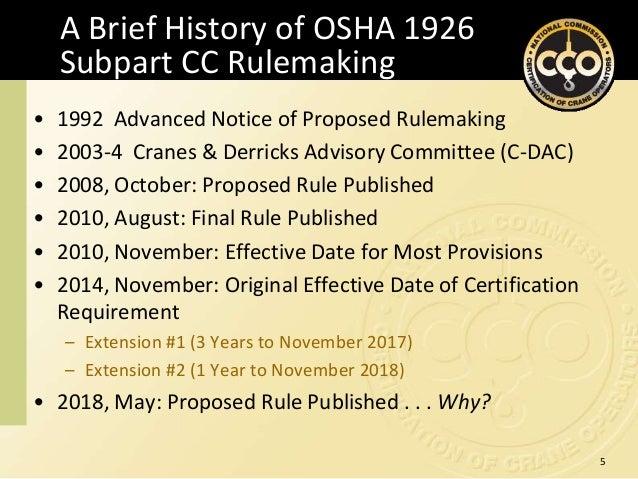 2018 CRW: OSHA Crane Operator Certification Update