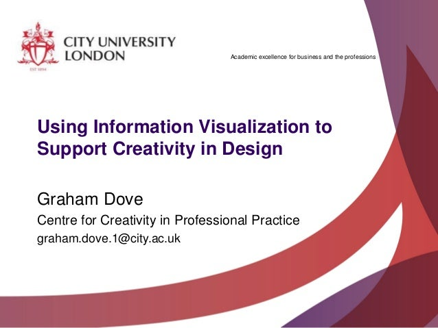 Academic excellence for business and the professionsUsing Information Visualization toSupport Creativity in DesignGraham D...