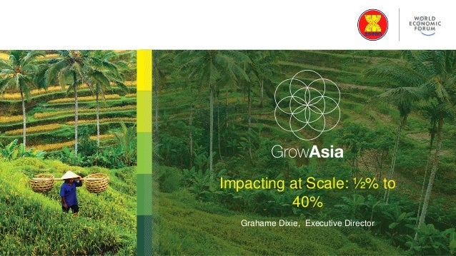 Impacting at Scale: ½% to 40% Grahame Dixie, Executive Director