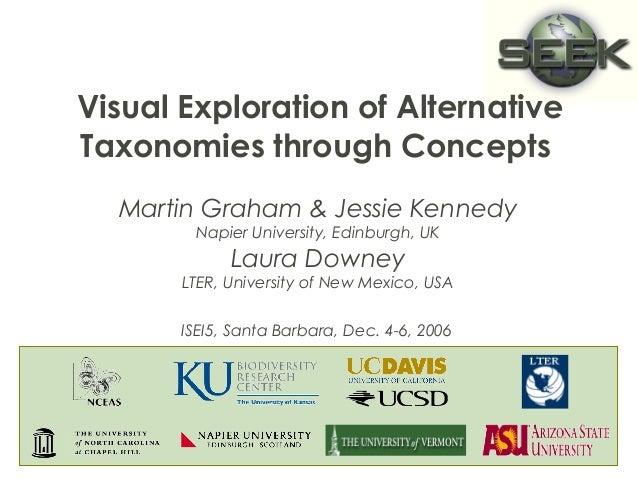Visual Exploration of Alternative  Taxonomies through Concepts  Martin Graham & Jessie Kennedy  Napier University, Edinbur...