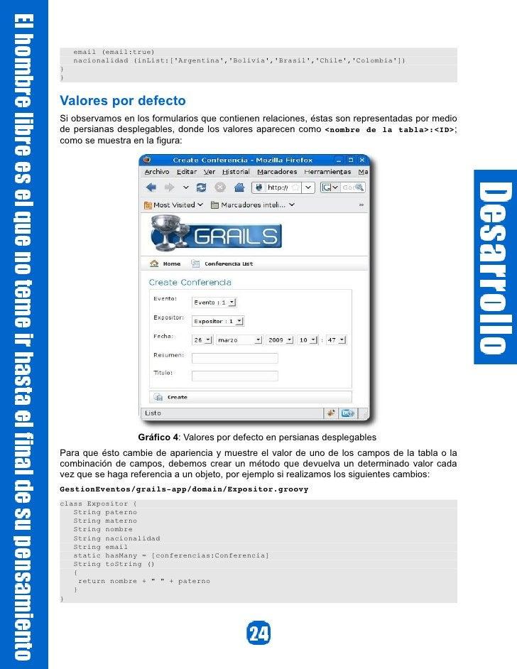 email (email:true)     nacionalidad (inList:['Argentina','Bolivia','Brasil','Chile','Colombia']) } }   Valores por defecto...