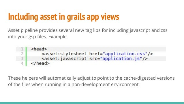 how to add asset path in js file grails