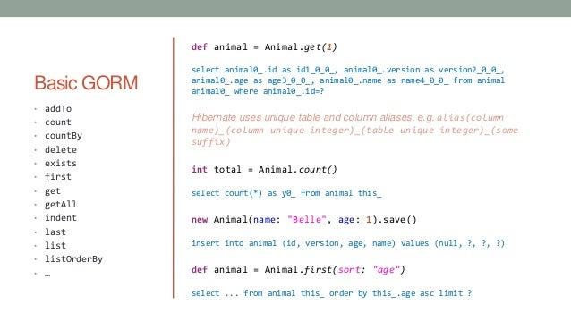 Grails GORM - You Know SQL  You Know Queries  Here's GORM