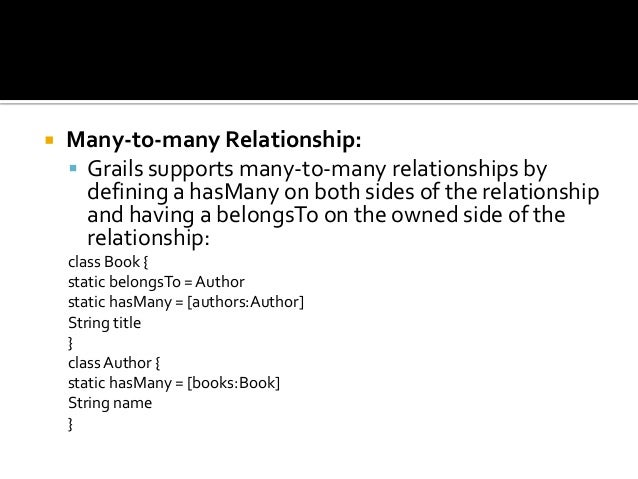 hasmany relationship in grails