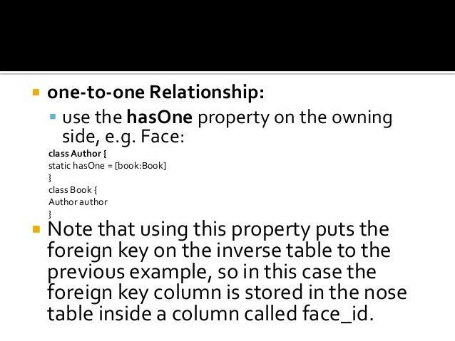 grails hasone relationship
