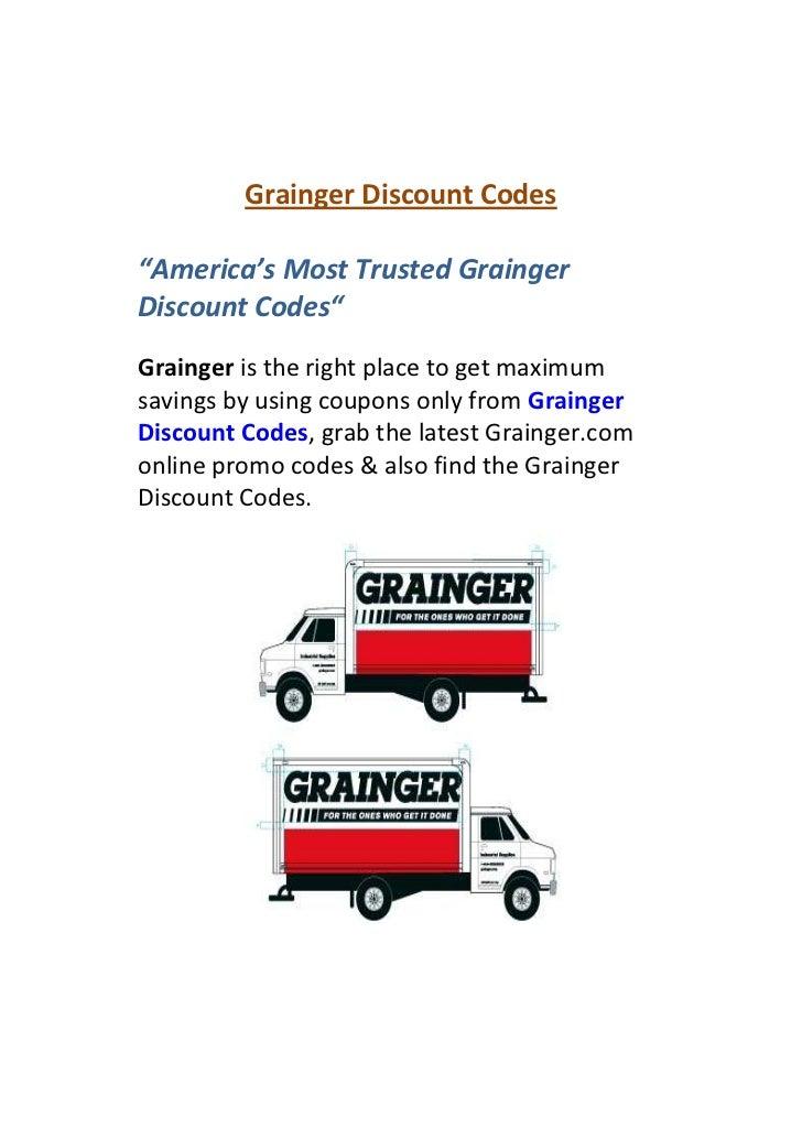 Grainger discount coupons