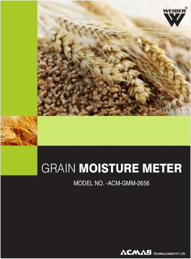 R  GRAIN MOISTURE METER MODEL NO. -ACM-GMM-2656  TECHNOLOGIES PVT. LTD.
