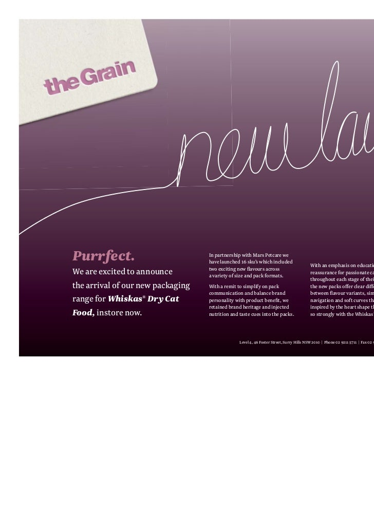 Purrfect.                          In partnership with Mars Petcare we                                   have launched 16 ...