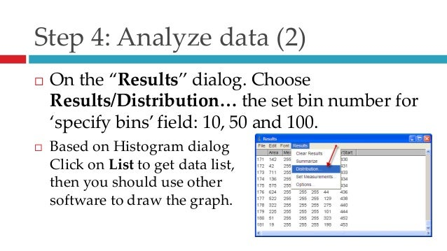 Grain size analysis by using ImageJ