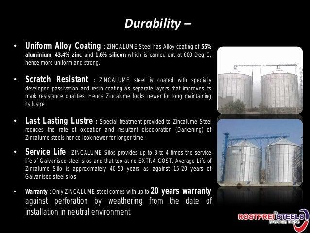 Grain storage warehouses silos