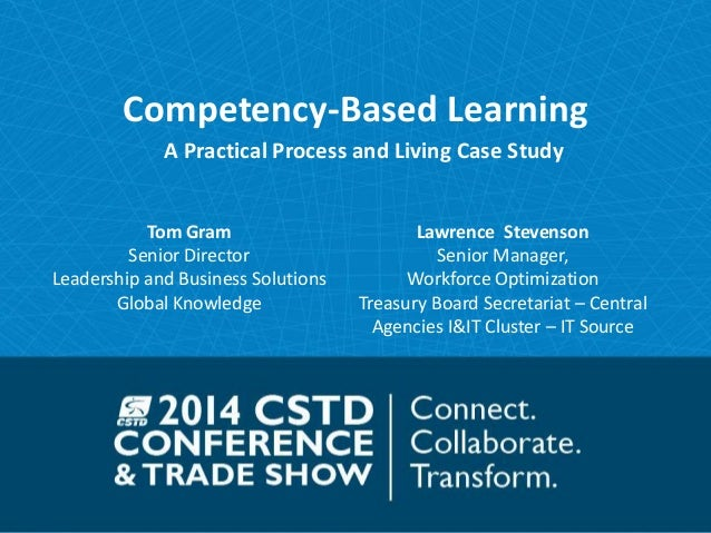 Competency-Based Learning  A Practical Process and Living Case Study  Tom Gram  Senior Director  Leadership and Business S...