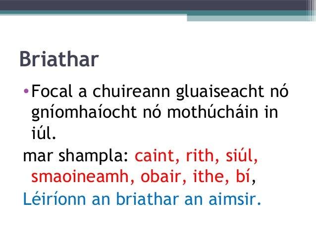 Gramadach na Gaeilge do Rang 6 Slide 3