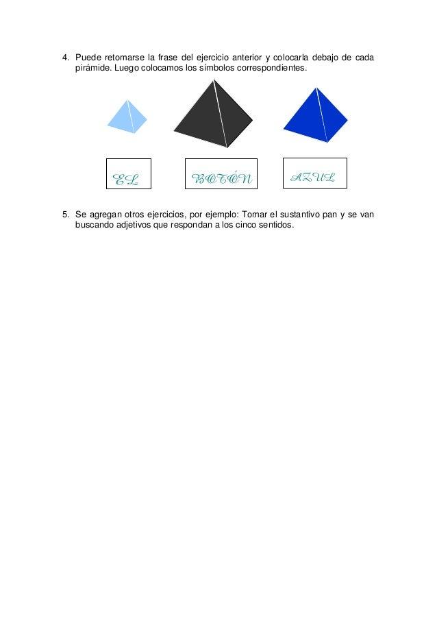 NOTA: Al introducir los tres símbolos de la familia del nombre podemos hacer mención a la similitud con las tres pirámides...