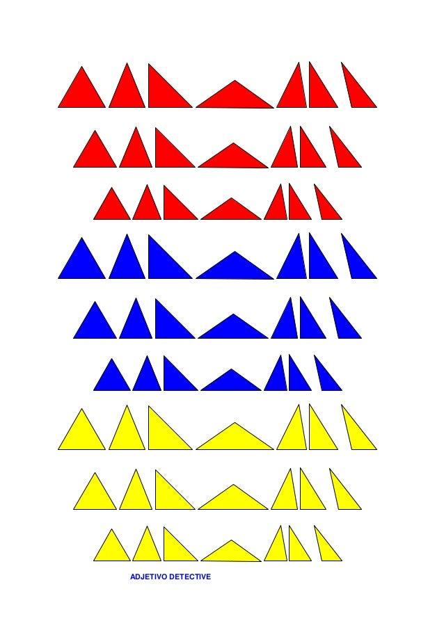 Segunda presentación: Material adicional: Tarjetas con la descripción de cada triángulo, en total son sesenta y tres. 1. T...