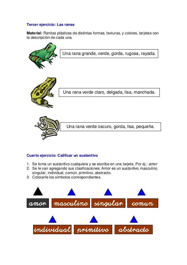Variación: Colocar varios objetos con sus nombres. Se le entregan al niño muchas tarjetitas con adjetivos y los va colocan...