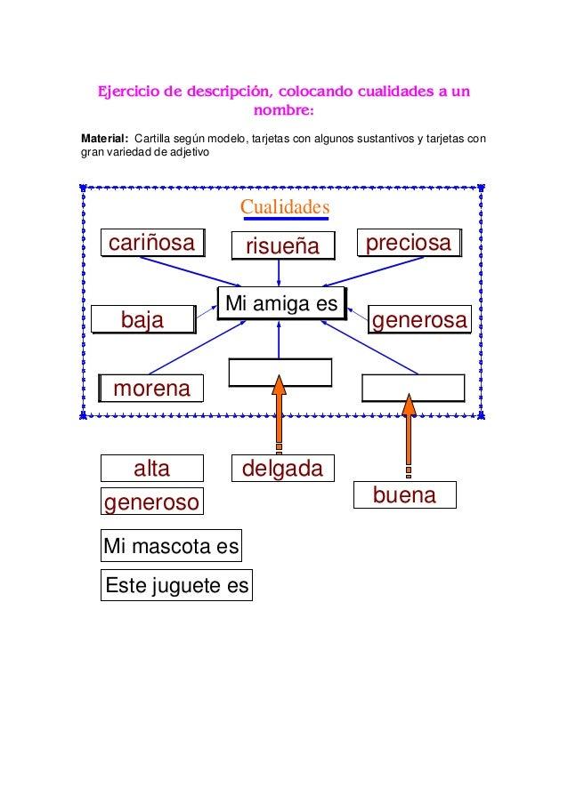 CAJA GRAMATICAL DEL ADJETIVO Material: Caja gramatical con cuatro divisiones, una grande y tres más pequeñas que dicen ―ar...