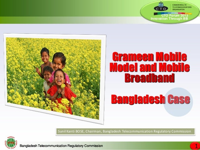 Grameen mobile model and mobile broadband