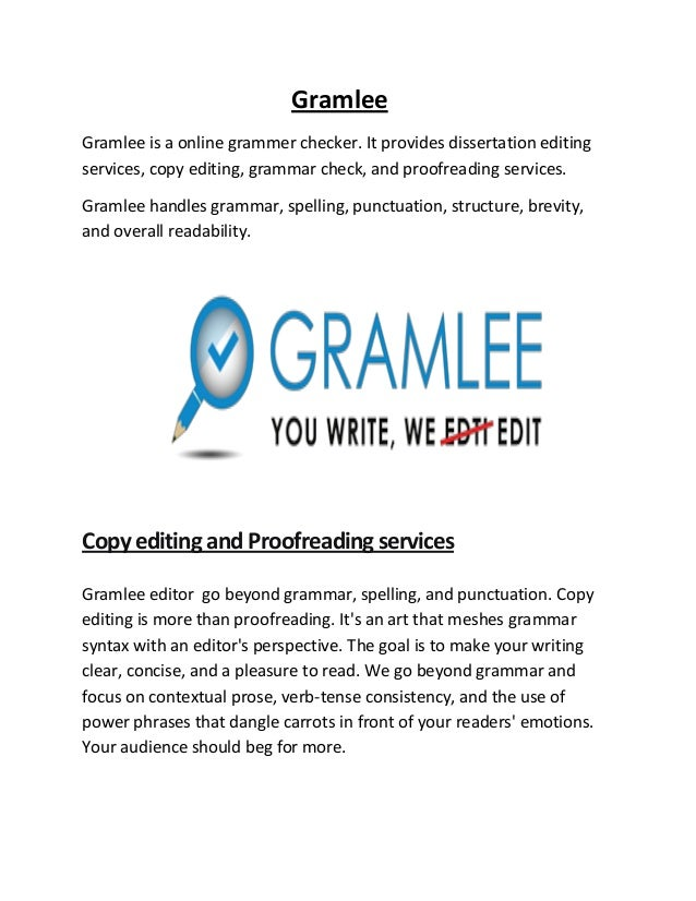 Dissertation Editing and Proofreading Services
