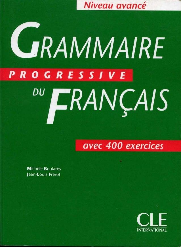 Grammaire de francais