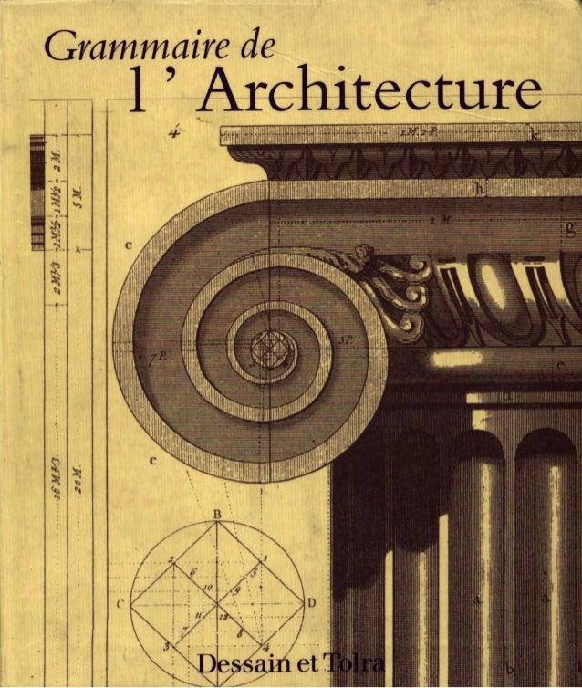 Grammaire de l_architecture
