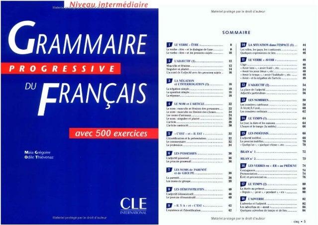 Grammaire progressive du français   niveau intermédiaire 600 exercices par ( www.lfaculte.com )