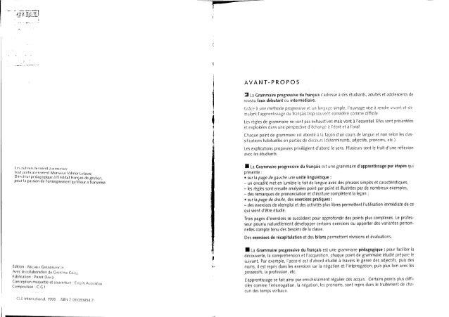 Grammaire progressive du français niveau intermediare Slide 3