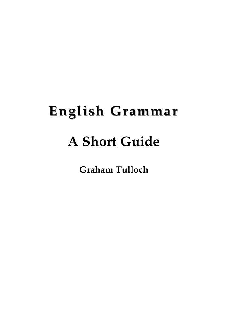 English Grammar  A Short Guide   Graham Tulloch