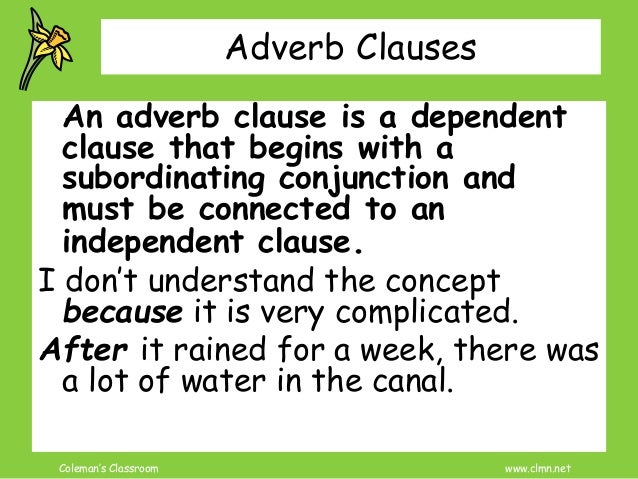 adverb clause review and practice