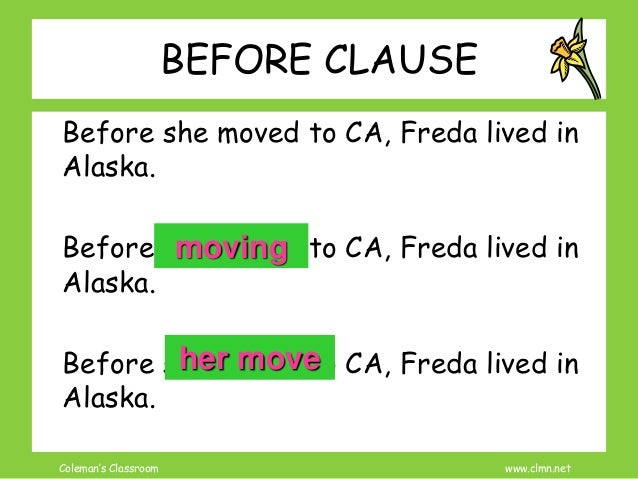 adverb clause reduction with practice