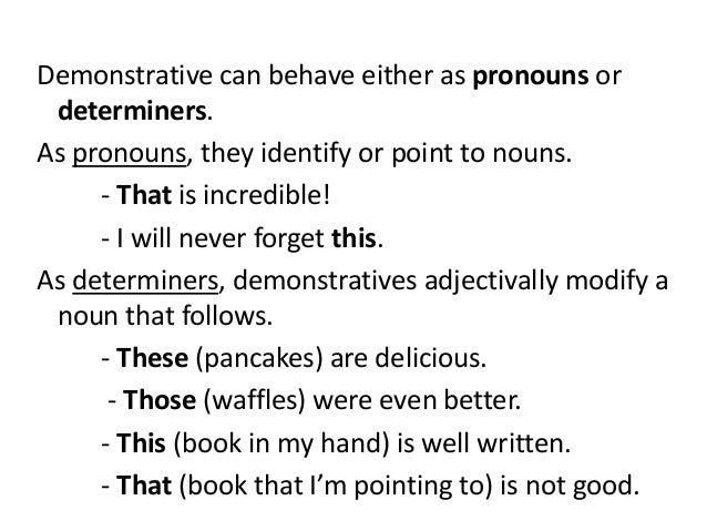 Articles Determiners