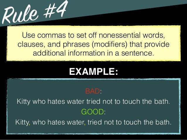 Grammar - Comma Use