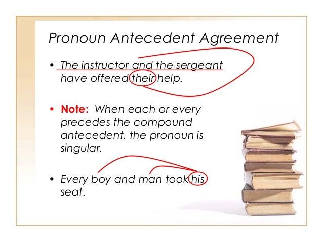 grammar pronoun antecedent agreement