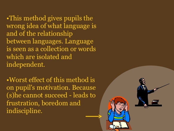 the grammar translation method essay The grammar–translation method is a method of teaching foreign languages  derived from the classical (sometimes called traditional) method of teaching  greek.