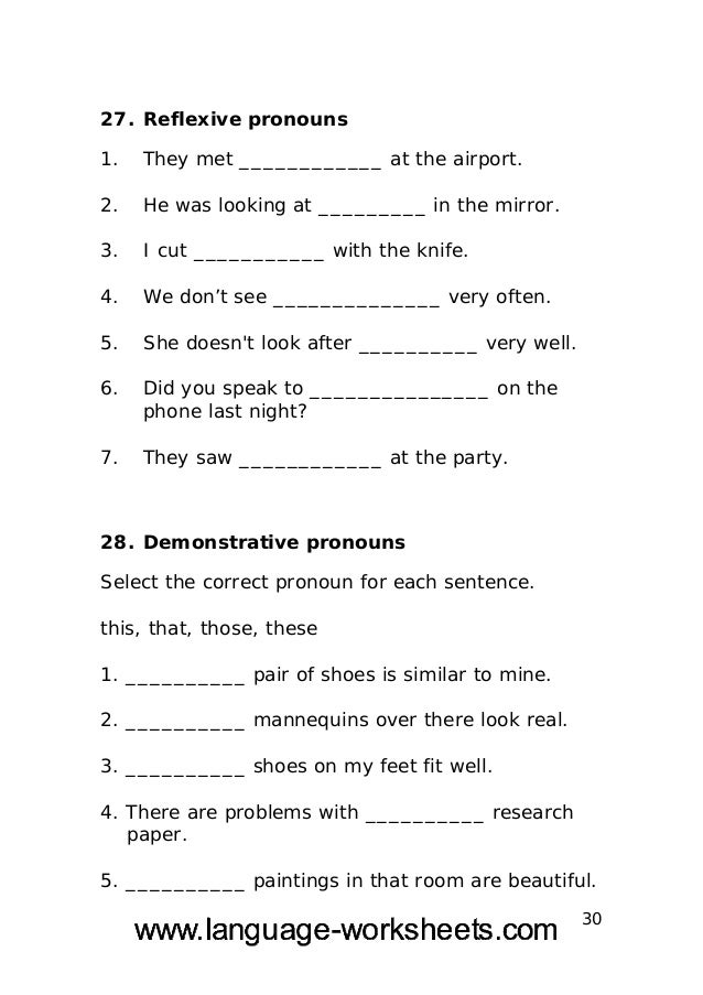 Grammar worksheets-secondary