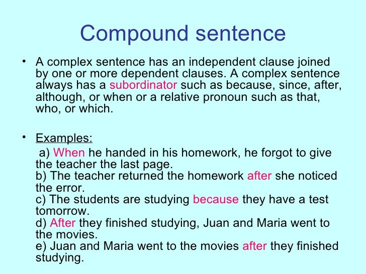 Compound complex sentence 5 examples of sexual harassment