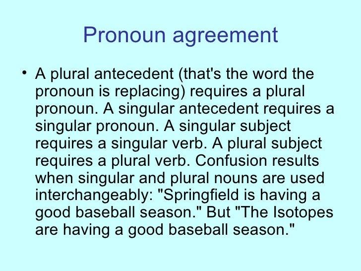 Grammar for journalists 23 pronoun agreement platinumwayz