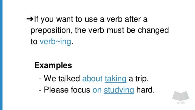 Preposition In Learn In Marathi All Complate: Grammar 5 1- Verb Patterns #1